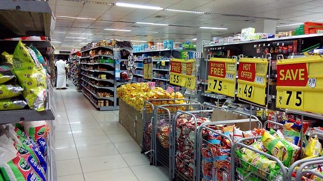 slevy v supermarketu