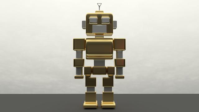 kovový robot