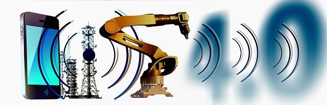 Průmyslový robot komunikuje